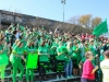Seniors show their spirit while being decked out in green at Powder Puff.  The Powder Puff game was won by the senior girls 12-6.