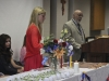Junior Claire Zurkowski lights candles for the Art Honor Society which was held on Friday, April 27.