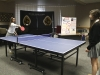 Juniors Renee L'Atrelli and Stephanie Almasy play a game of ping pong during the Culture Shock meeting on Friday, Feb. 24.