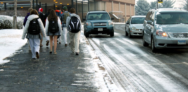 School opens on time despite icy conditions