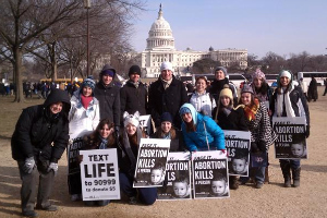 Respect Life Club marches in D.C. rally