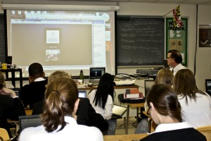 Students connect with Egyptian woman over Skype