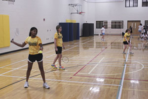 Badminton team stays positive despite forfeits