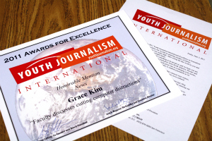 Members of The Patriot win Youth Journalism International awards