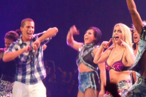 Former student dances onstage with Britney Spears