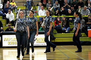 Color Guard excites audience at first performance