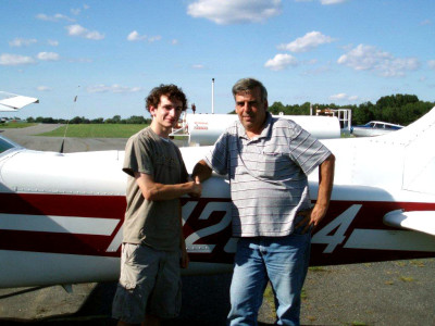 Senior soars with new pilot license