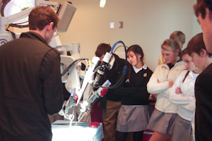 STEM program visits Johns Hopkins robotics lab