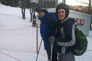 Students vacation at Seven Springs ski resort