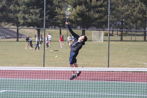 Men's varsity tennis practices for new season
