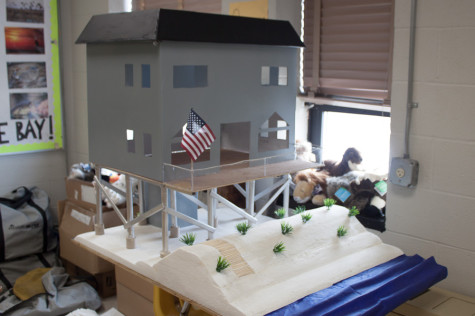 AP Human Geography students construct model houses